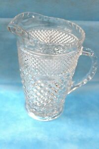 Vintage Cut Glass Water Pitcher 9