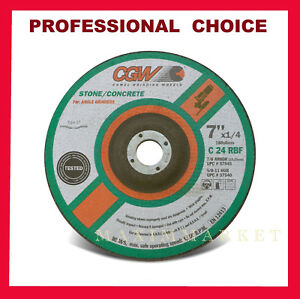 7 X 1 4 X 7 8 C24 r b Depressed Center Grinding Wheel Disc For Stone