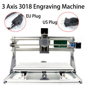 3 Axis Mini Cnc 3018 Router Wood Carving Engraving Diy 3d Cutter Machine Usa