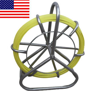 Fish Tape Fiberglass Wire Cable Running Rod Duct Rodder Fishtape Puller 6mm 130m