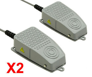 2x Aluminum Foot Switch 10a Spdt No Nc Electric Power Pedal Momentary Cnc S3x2