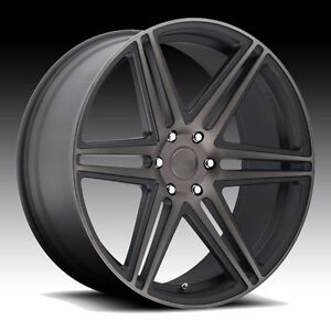 26 Dub Skillz S123 Wheels Rims Set 26x10 Black Ddt Rims 6x139 7 Forgiato Lexani