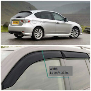Wide Window Visors Side Guard Vent Deflectors For Subaru Impreza Sd hb 2008 2011