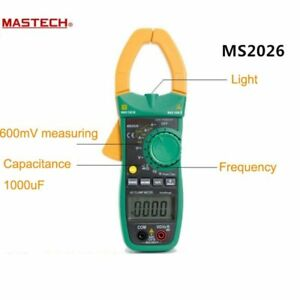 Original Mastech Ms2026 Digital Current Clamp Meter Auto Range Ammeter Voltmeter