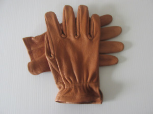Men s Saddle Brown American Buffalo Leather Work Gloves Made In The Usa