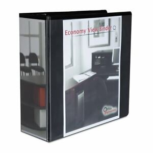 Office Impressions Economy D ring Vinyl View Binder Two Inside Pockets 80995