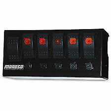 Moroso 74186 Rocker Switch Panel Starter Plus 4 On off Switches