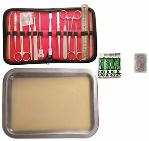 Premium Stainless Steel Dissection Kit With Free Tray And Pins For Biology 14