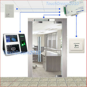 Biometric Face Recognition fingerprint Access Control Terminal magnetic Lock psu