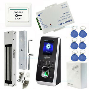 Biometric Face Fingerprint Rifd Access Control Systems mag Lock Zksoftware