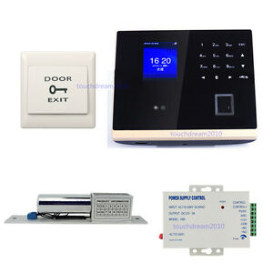 Bio Facial Fingerprint Access Control Time Attandance System Kit Bolt Lock