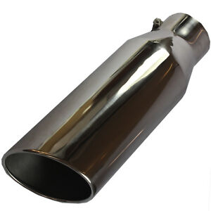18 Long 4 Inlet 6 Outlet Bolt On Polished Diesel Exhaust Tip Stainless Steel