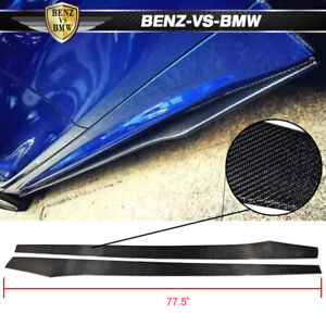 Universal Fits Most Car 77 5 Inch Side Skirt Extension Flat Bottom Line Lip Cf