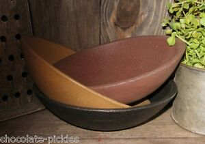 3 Wood Stacking Pantry Bowls Primitive French Country Farmhouse Kitchen Decor