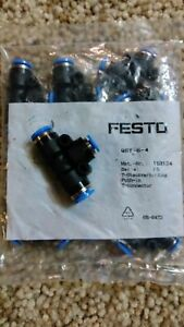 Festo Qst 6 4 Push in T connector 153134 10 Pc new