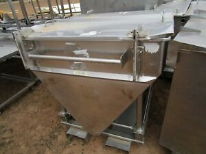 Vat Stainless Steel Tank Slopes To A V On Skids Approximately 200 Gallons