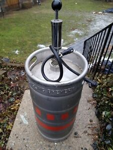 Used 1 6 Barrel Stainless Steel 5 Gallon Commercial Beer Keg Yuengling Brew wtap