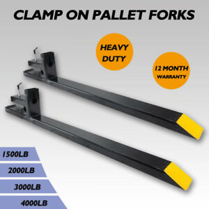 1500lb 2000lb 3000lb 4000lb Clamp On Pallet Fork Capacity Loader Bucket Tractor