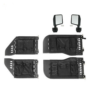 07 18 Jeep Wrangler Jk 4 Tube Door Armor Set With Bag Covers Side View Mirrors