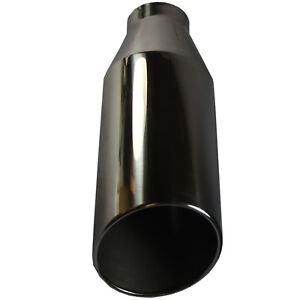 Bolt On Diesel Exhaust Tip 4 Inlet 7 Outlet 18 Long Stainless Steel Chrome