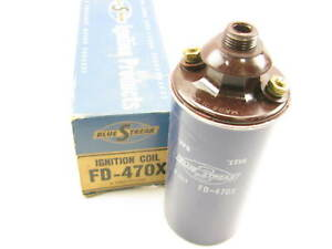 Standard Fd 470x Vintage Ford 6 Volt 6v Ignition Coil Threaded Plug