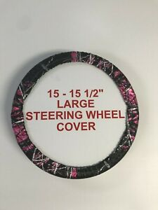 Camouflage Steering Wheel Covers Moon Shine Muddy Girl Large 15 15 5