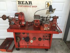 Bear Portabrake Shop Lathe Grinder On Shop Cart Parts