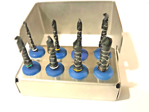 Dental Implant Drill Kit 8 Piece Set External Irrigation Surgical Bur Holder Ce