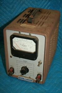 Vintage Industrial Hp Model 400b Vacuum Tube Voltmeter 9100 0050 Transformer Ham