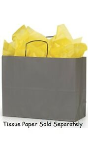 Paper Bags Vogue Shopping 50 Large Grey 16 X 6 X 12 Retail Merchandise Gift