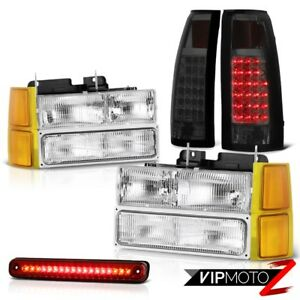 94 98 Silverado 1500 Lights Headlights Corner Wine Red Roof Brake Lamp Taillamps