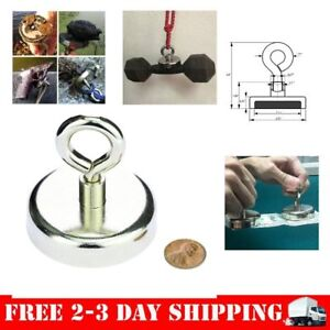 Fishing Magnet Super Strong Neodymium Magnetic Hook Round River Magnet 246 Lb
