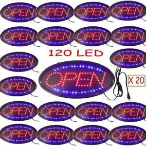 Lot 20 Bright Animated Led Open Store Shop Business Sign Neon Display Lights Ec