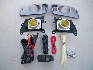 Honda Civic 2 3 Door Ej Eg Coupe Jdm Yellow Fog Light Kit Harness Switch Si