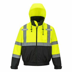 Portwest Us364 High visibility 2 in 1 Bomber Jacket New