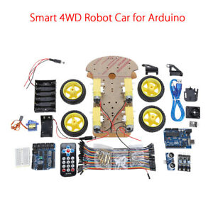 4wd Smart Robot Car Chassis Kits With Remote Controller For Arduino Starter Diy
