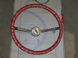 1966 1973 Early Ford Bronco Factory Steering Wheel With The Large Horn Button