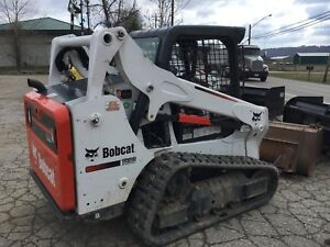Bobcat T590 Skid Steer Smooth Or Tooth Bucket 100 Hours Nice Unit