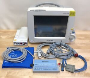 Philips Intellivue Mp30 M8002a Patient Monitor W m3001a Accessories Certified