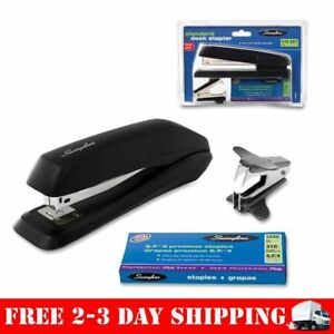 Standard Office Stapler Mini Desktop Staple Remover 1250 Staples Set Black Set