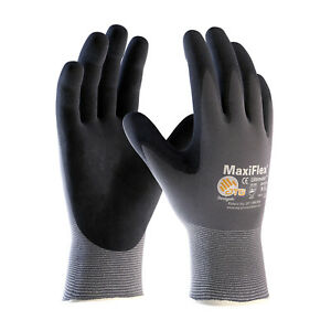 34 874 Maxiflex Ultimate Nitrile Micro foam Coated Gloves large 12 Pair