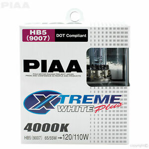 Piaa Hb5 9007 Xtreme White 4000k Xtra 65w 120w Halogen Headlight Bulbs 2 Pack