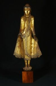 19th Century Antique Wooden Mandalay Buddha From Burma Antique Buddha Statues