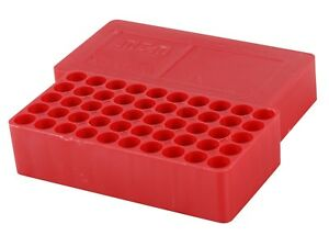 MTM Slip-Top Ammo Box 38 Special Round Hole Plastic Red J-50-38-30