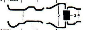 1962 Buick Wildcat Dual Exhaust System Aluminized Without Resonators