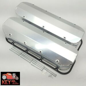 Bbc Fabricated Welded Aluminum Valve Covers Big Block Chevy Racing 454 396 Satin