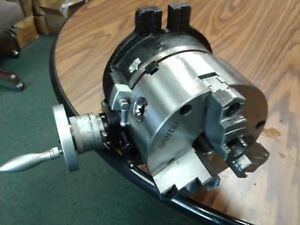 6 Horizontal Vertical Rotary Table W 6 3 jaw Chuck Front Mount tsl6 3 slot