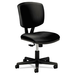 Hon Volt Task Chair Synchro tilt Black Softhread Leather