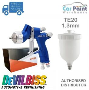 Devilbiss Gti Pro Lite Te20 Gravity Spray Gun gold Clear Coat 1 3