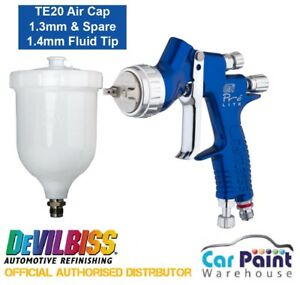 Devilbiss Gti Pro Lite Spray Gun blue Clear Coat Te20 1 3 1 4mm